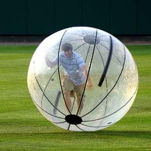 Giant Human Hamster Ball : holleyweb.com Rolling Soccer Ball