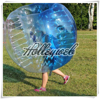 Bubble Football Suits Bubble Soccer Equipment Bumper Ball Body Zorbing Ball Blue & Clear