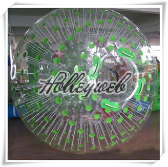 Green Color Dot Inflatable Water Ball, Zorb Balls, Water Walking Balls PVC/TPU Youch Ball Bubble Football