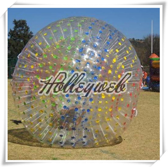 Crazy Larger Inflatable Color Dot Mixed Human Hamster Ball Human Sized Hamster Ball Zorb Balls For Sale