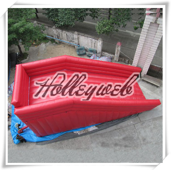 Inflatable Water Slide Hire Gold Coast: Red Inflatable Zorb Ramp / Zorb Ball Track For Zorb Games