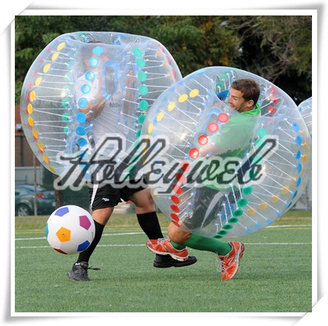 Colourful Bubble Football Inflatable Body Zorbs Ball Inflatable Bumper Ball