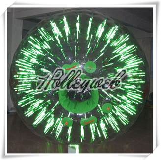 Green CE Certificate Lighting Fluorescent Glowing Zorb Ball Toy Balls