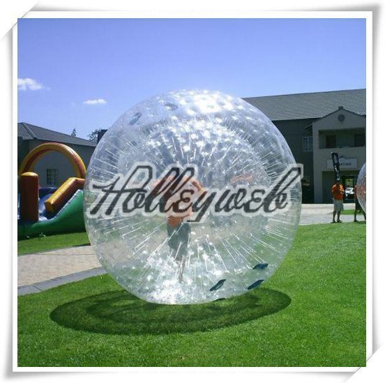 CLEAR ZORB WATER BALL INFLATABIE WATER BALL (Inflatable Zorb ball Zorbing  Human Hamster ball Hydro)